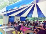 kickoff van Internationale Yoga Dag op landgoed Elswout 1
