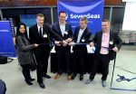 Seven Seas opening in Port of Den Helder (from left to right) Katia Bastos, Hildert Terwisscha, Remco Janssen, Ron Mulder, Mikael Karlsson