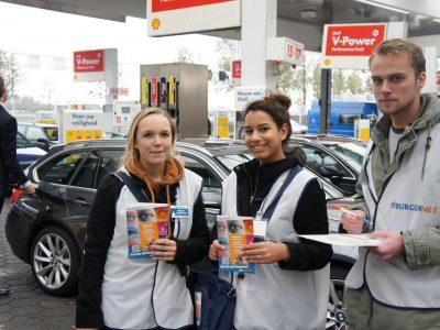 Werving Burgernet bij Tankstation Den Ruygenhoek (4) (Foto door Pressrecord PR)