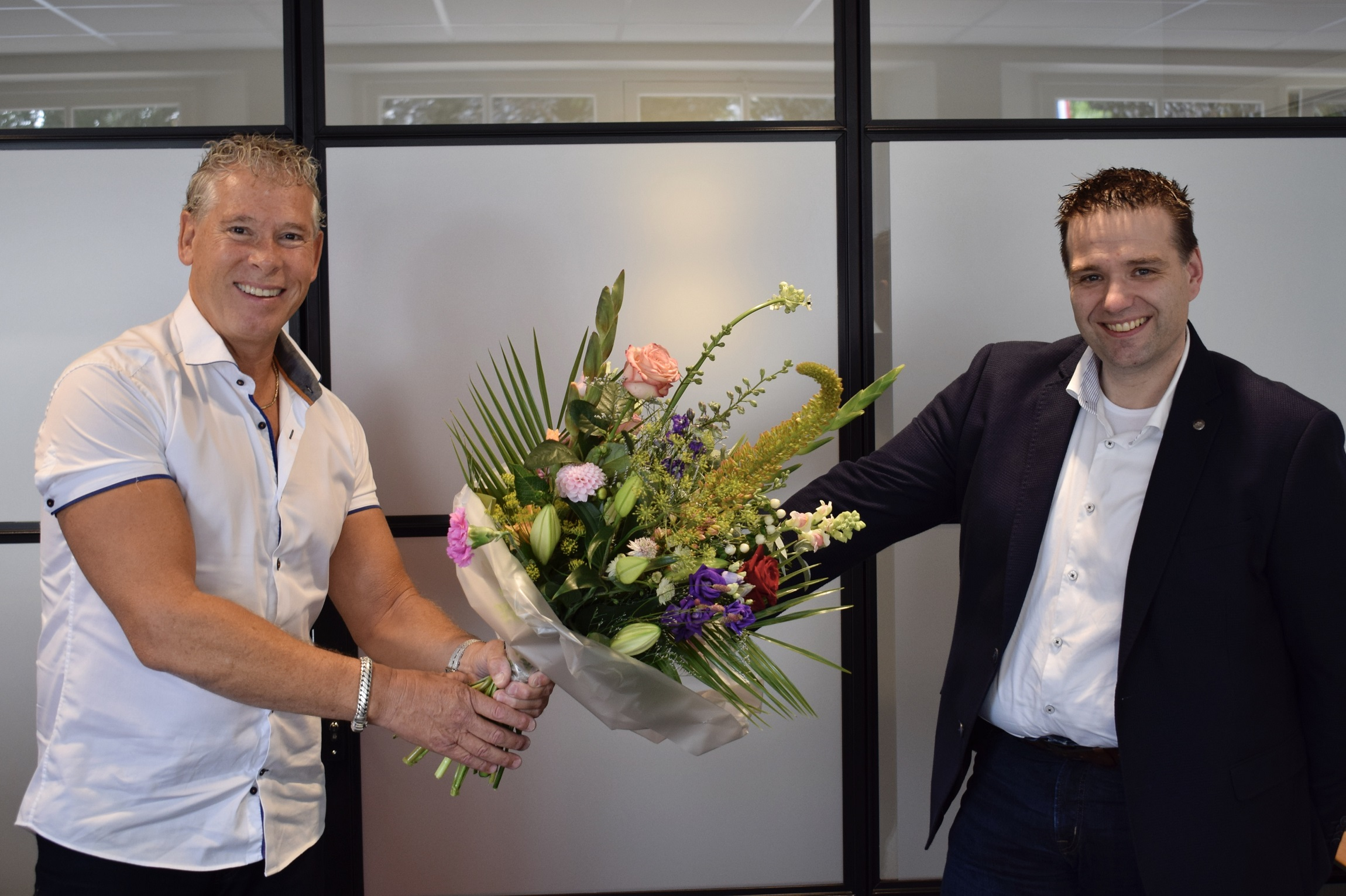 Links Eduard Craanen, eigenaar FlexGroup, rechts Jan van den Broek, eigenaar Workstead.