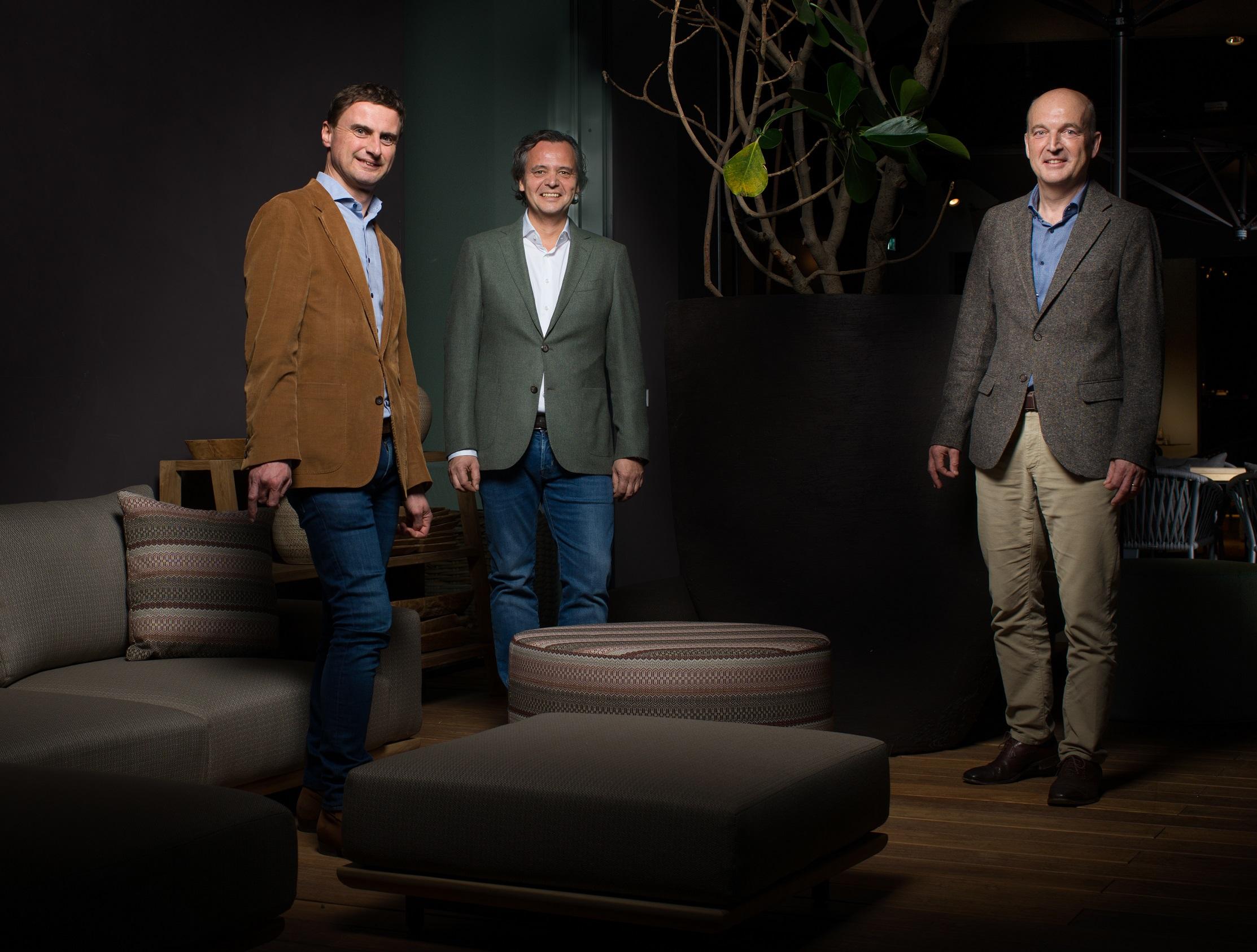 vlnr: Ast Verbiest, Frank Bogaers, Floris Vansina.
