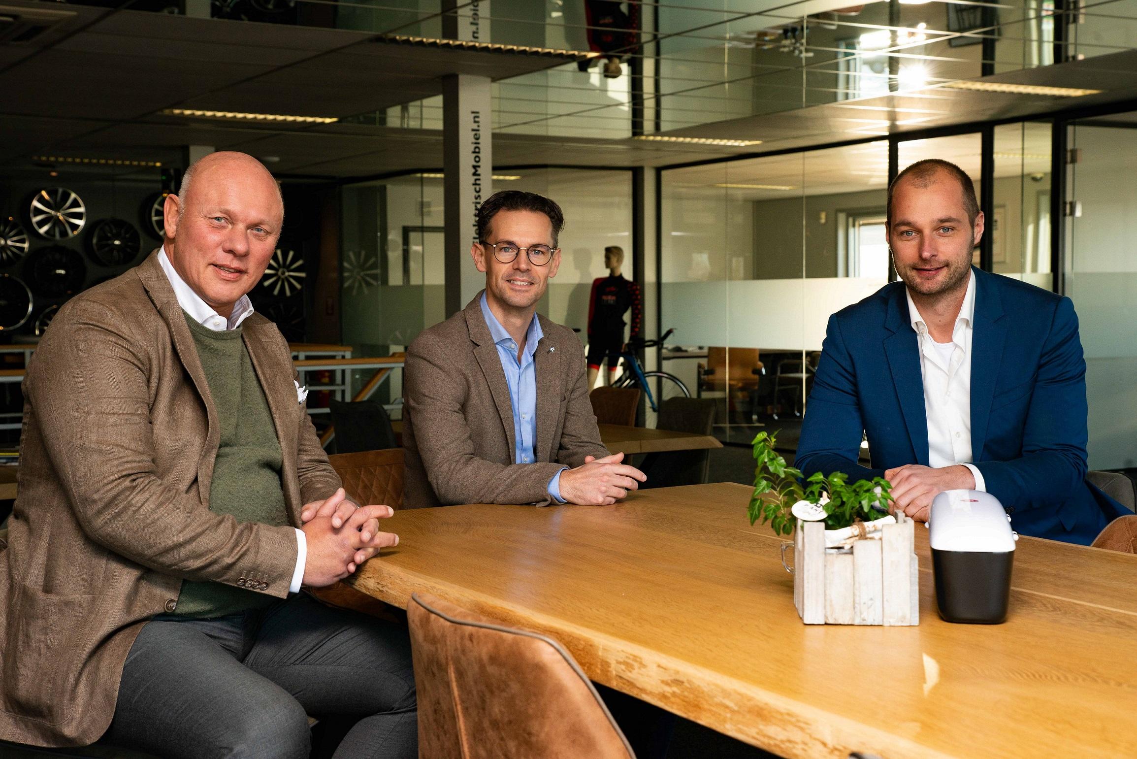 vlnr Sjef ten Berge, Sjoerd van der Leeden en Daniël van Dormael.