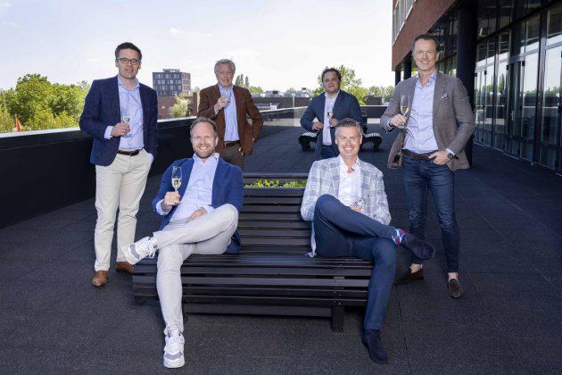 vlnr. David Schaap, Harro Borghardt, Martin Toet, Remy Cuny, Carlo Schaeffer, Maarten van Montfoort